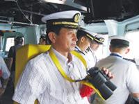 海上自衛隊 展示訓練に参加。