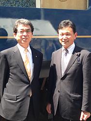 多々見舞鶴市長と。