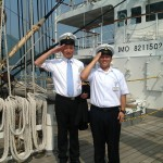 7月28日 練習船「日本丸」初寄港出迎